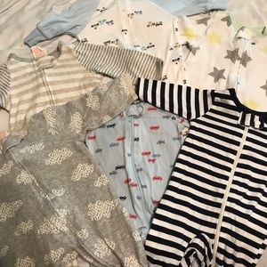 Lot of 6 NB jammies